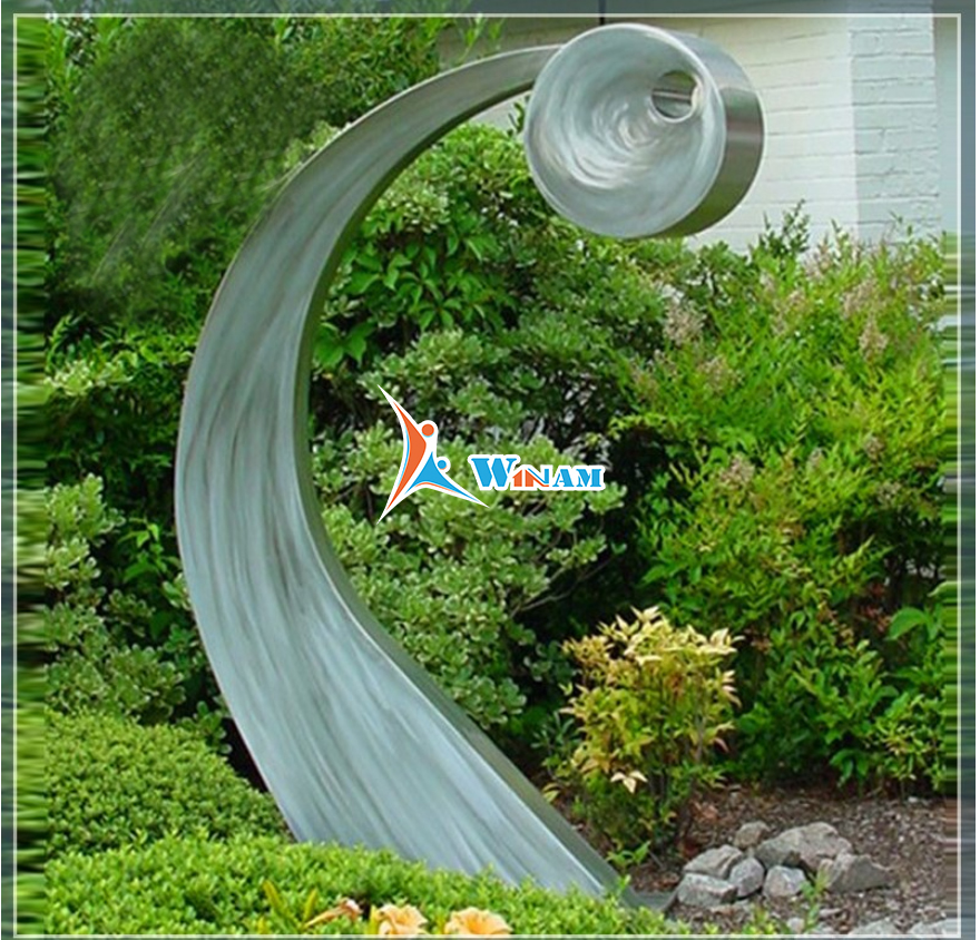 Metal Stainless Steel Art Modern Abstract Sculpture Outdoor