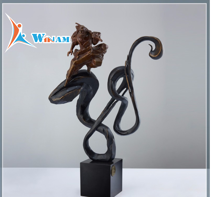 2017 New Designs Modern Home Art Decoration Bronze Sculpture