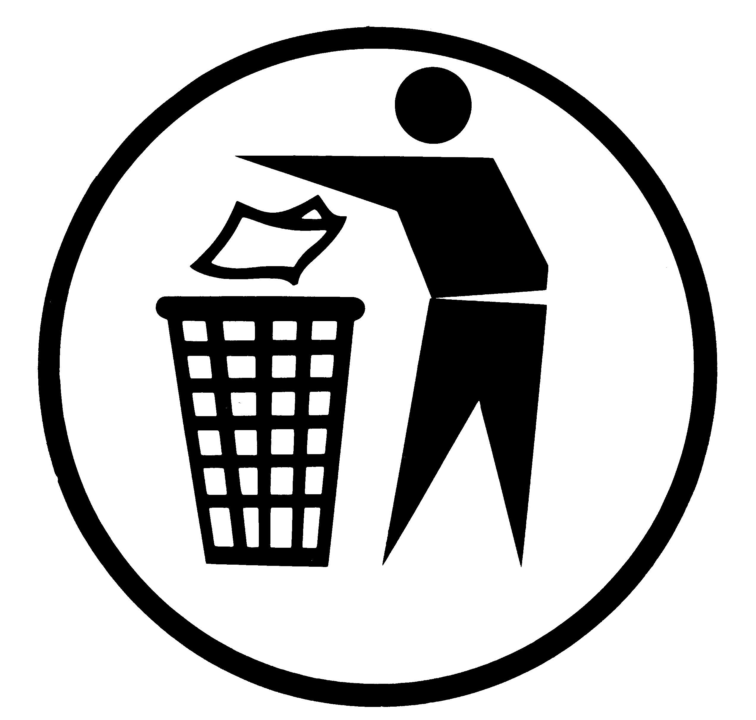 Sticker For Litter Bin