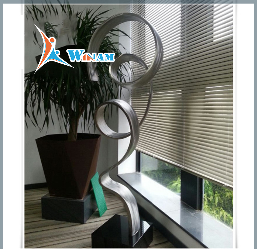 Stainless steel contemporary art home sculpture