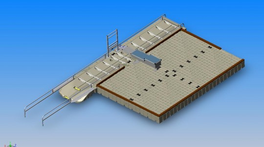 EZ Launch® One-Way with Large Dock, Ports, Bench and Barrier