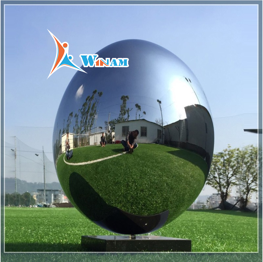 2017 Outdoor Egg Ball Stainless Steel Sculpture
