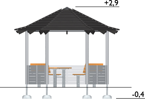 UNIPLAY MIAMI GAZEBO 2.9M