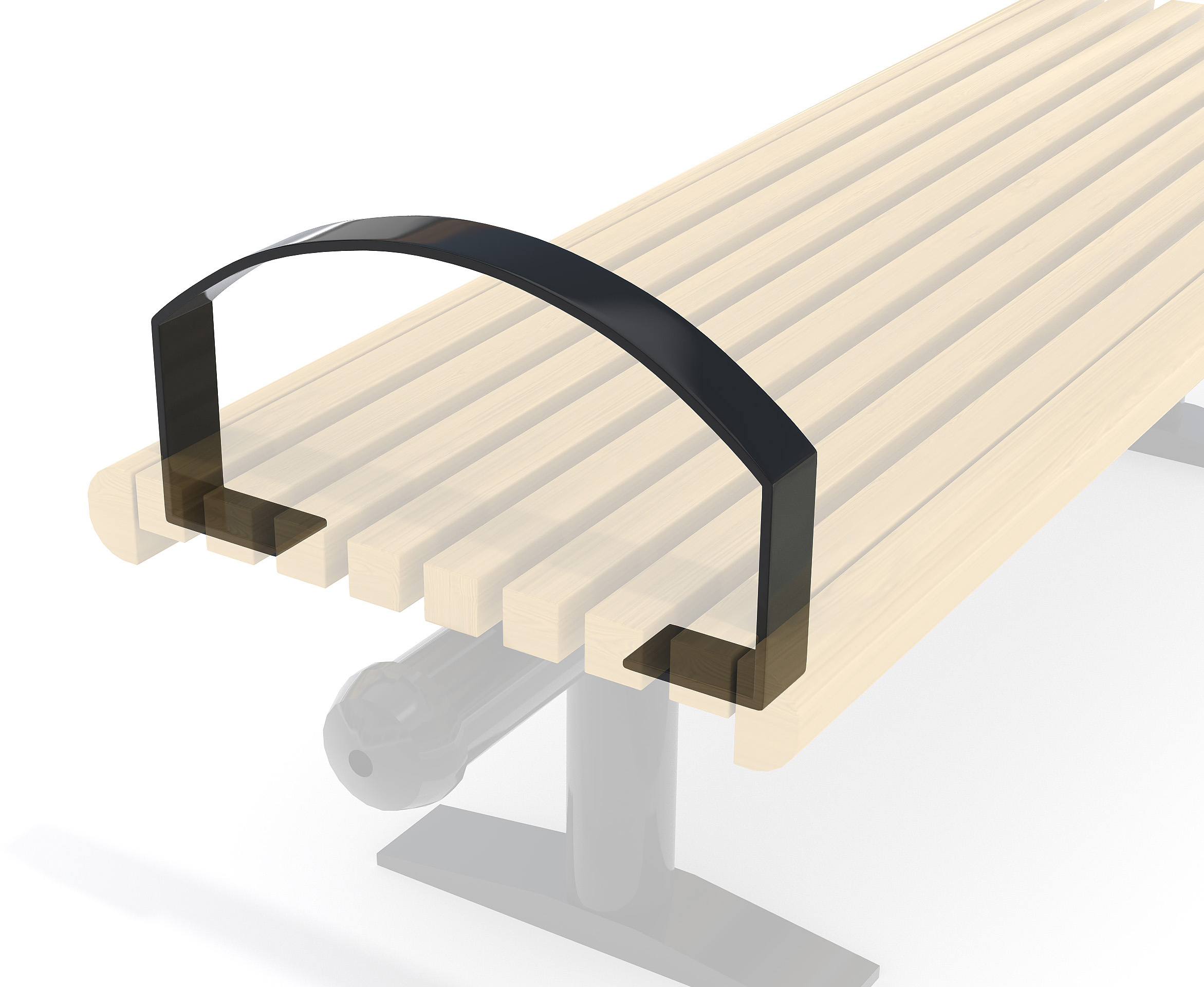 Armrest For City-Form Bench