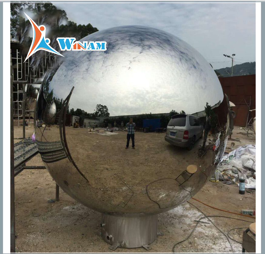 Large Stainless Steel Decorative Garden Ball