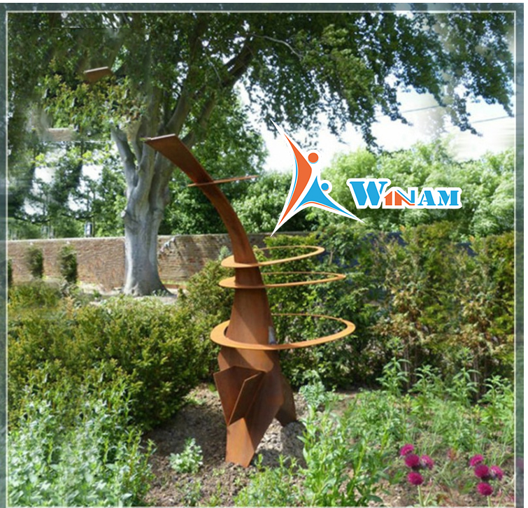 Australia Rusty Modern Outdoor Corten Steel Sculpture for garden