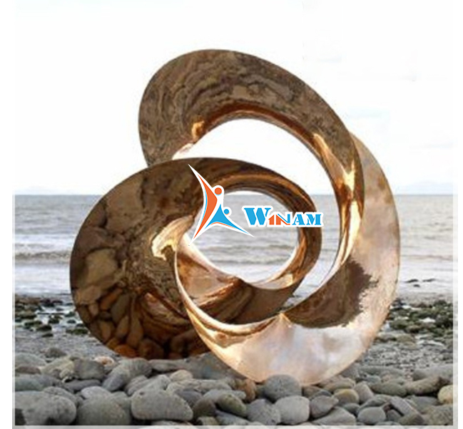 Decoration Stainless Steel Landscape Statue Metal Art