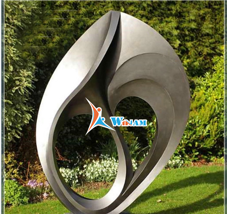 Stainless steel large garden decoration outdoor sculpture for sale