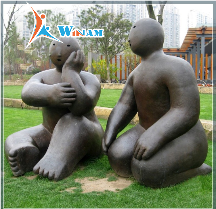 Children metal sculpture