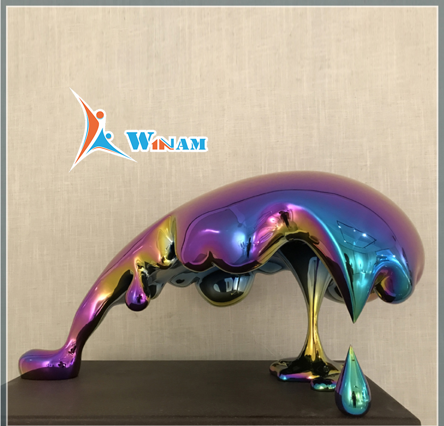 Stainless steel sculpture plating titanium egyptian statues