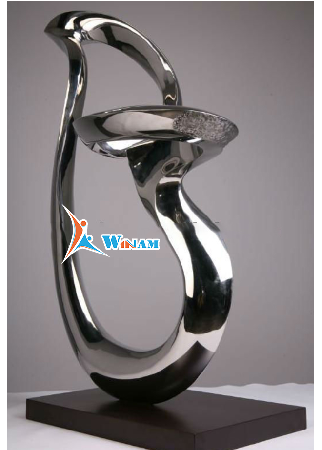 100% handcraft polish Stainless steel sculpture,Melody stainless steel sculpture Language Option French
