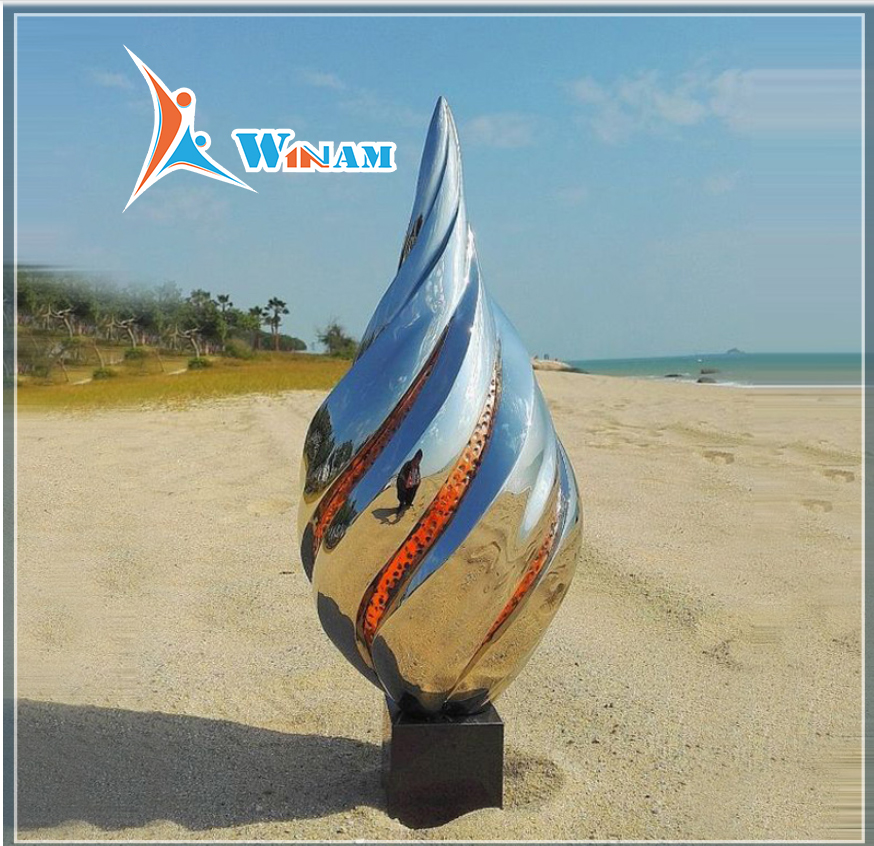 Stainless Steel Polished Modern Art Home Decor Art Sculptures