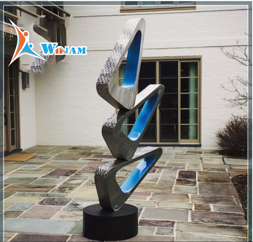 Fashionable design art abstract stainless steel sculpture