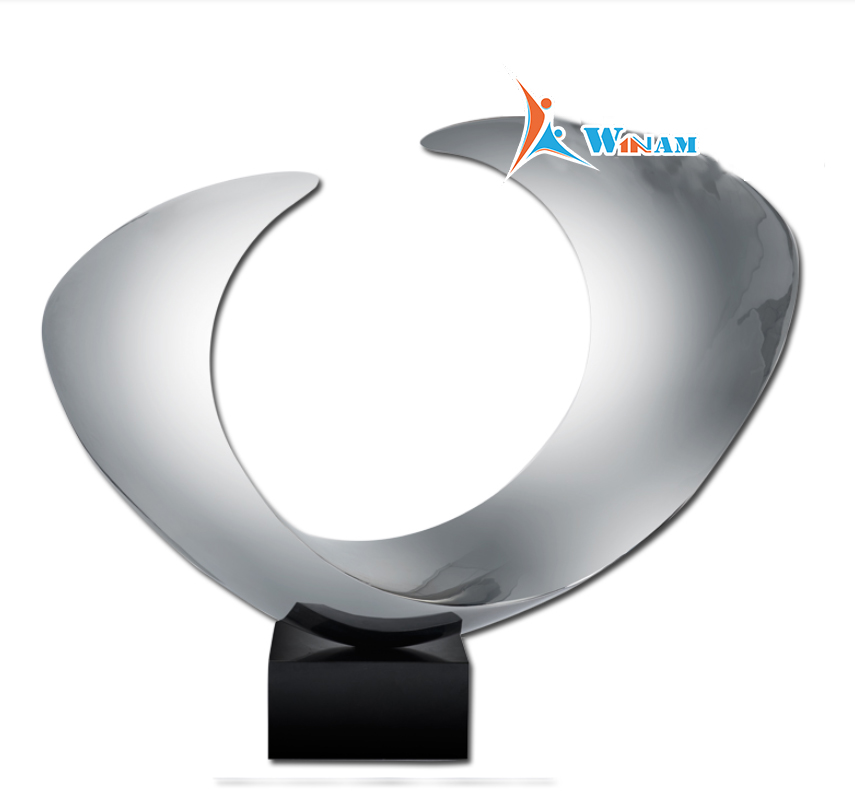 Modern Wave Stainless Steel Sculpture For Home Interior Decoration