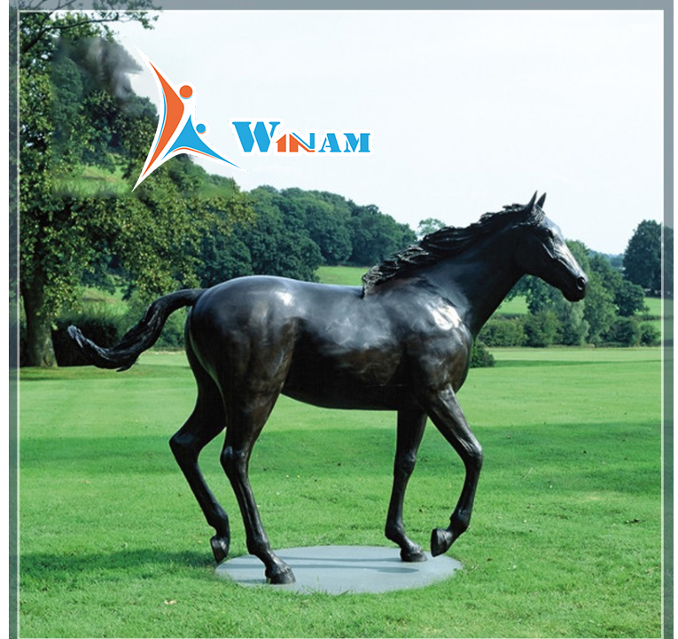 Life Size Park Decorative Bronze Horse Sculpture