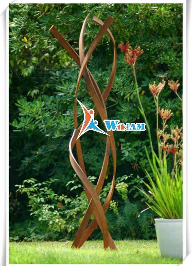 Europe style art craft corten steel sculpture for garden