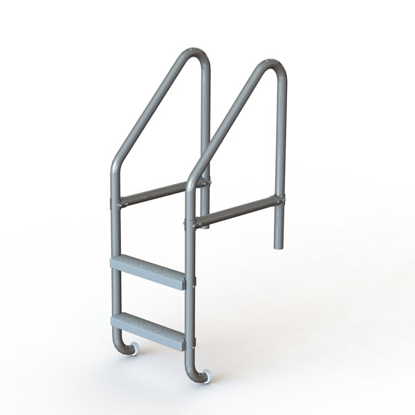 2-Step 25″ Heavy-Duty Swimming Pool and Spa Ladder