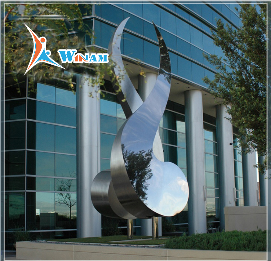 Stainless steel outdoor modern public sculpture