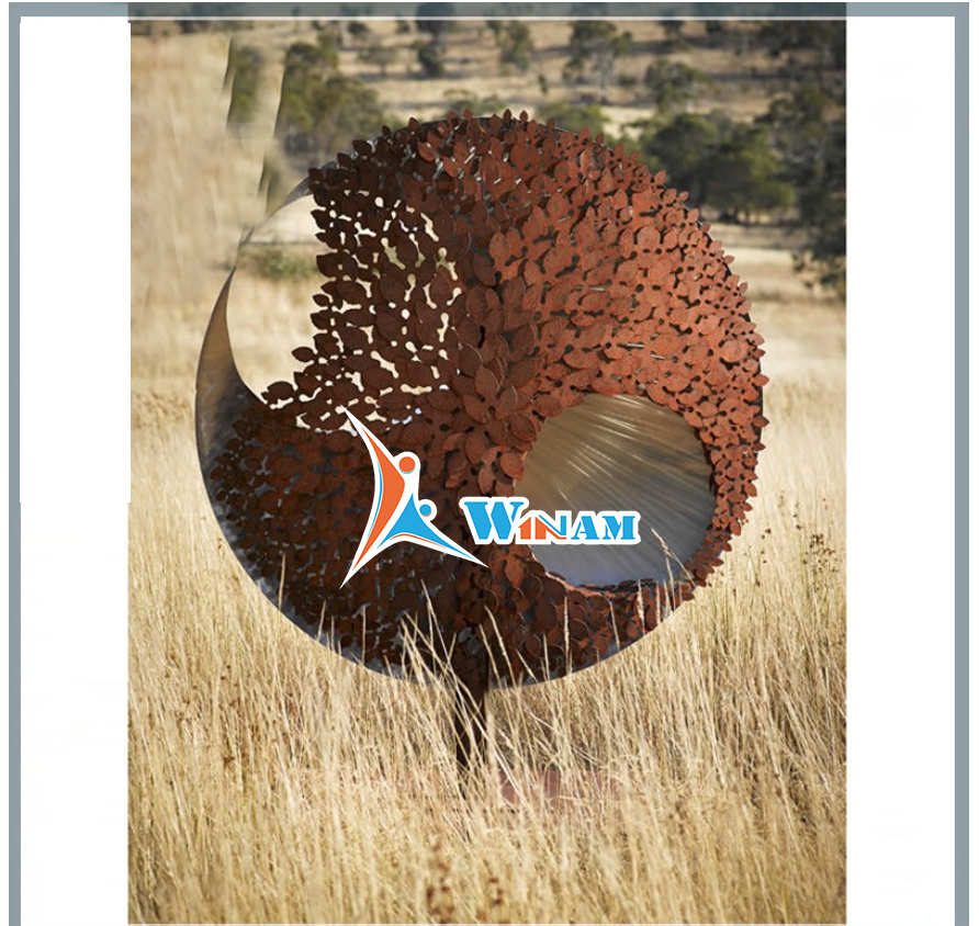 Abstract Garden Sculpture Corten Steel Statue Wholesale
