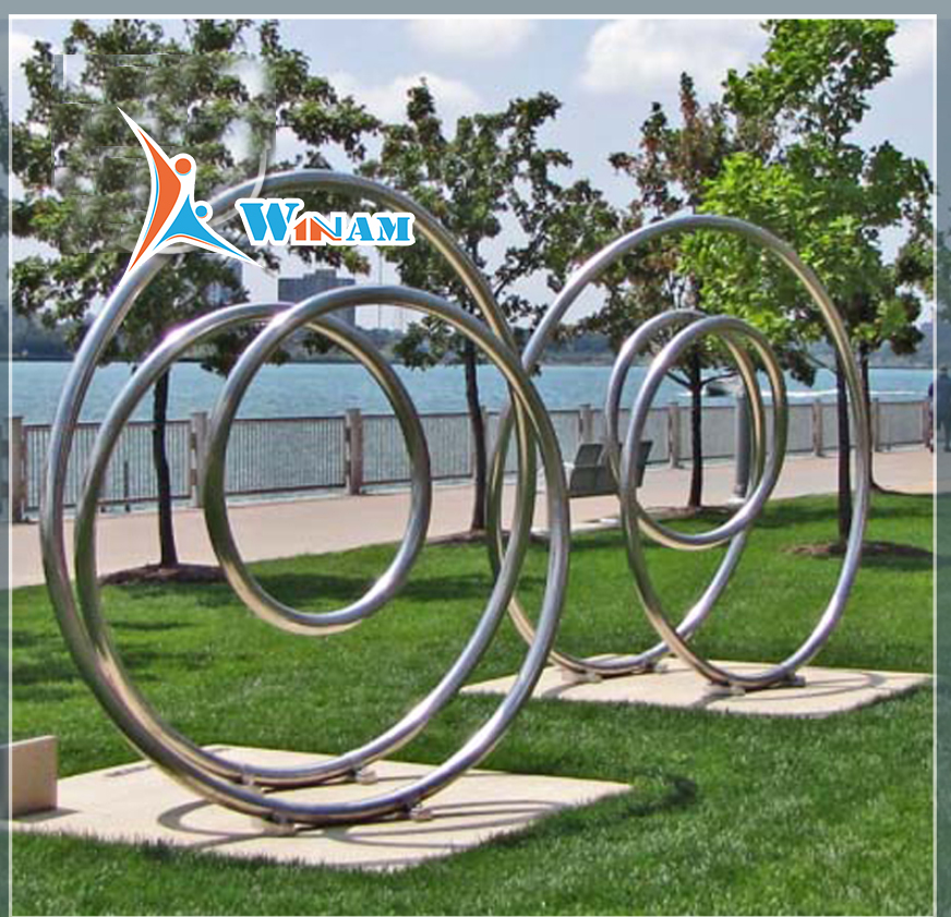 Modern stainless steel large outdoor sculptures for sale