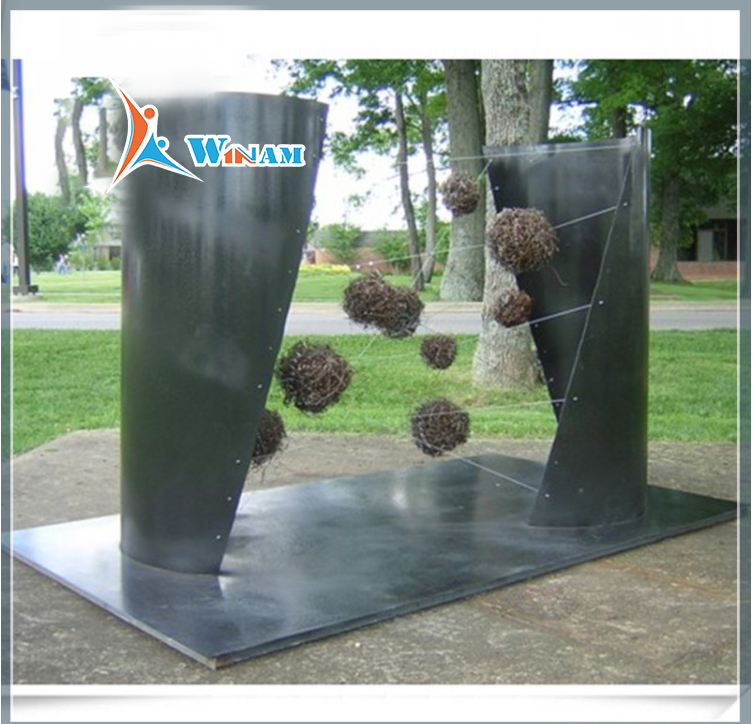 3D metal art stainless steel wall sculpture