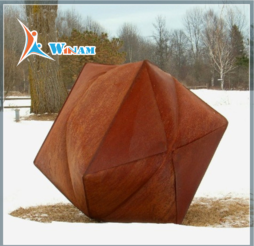 Corten steel contemporary garden sculptures
