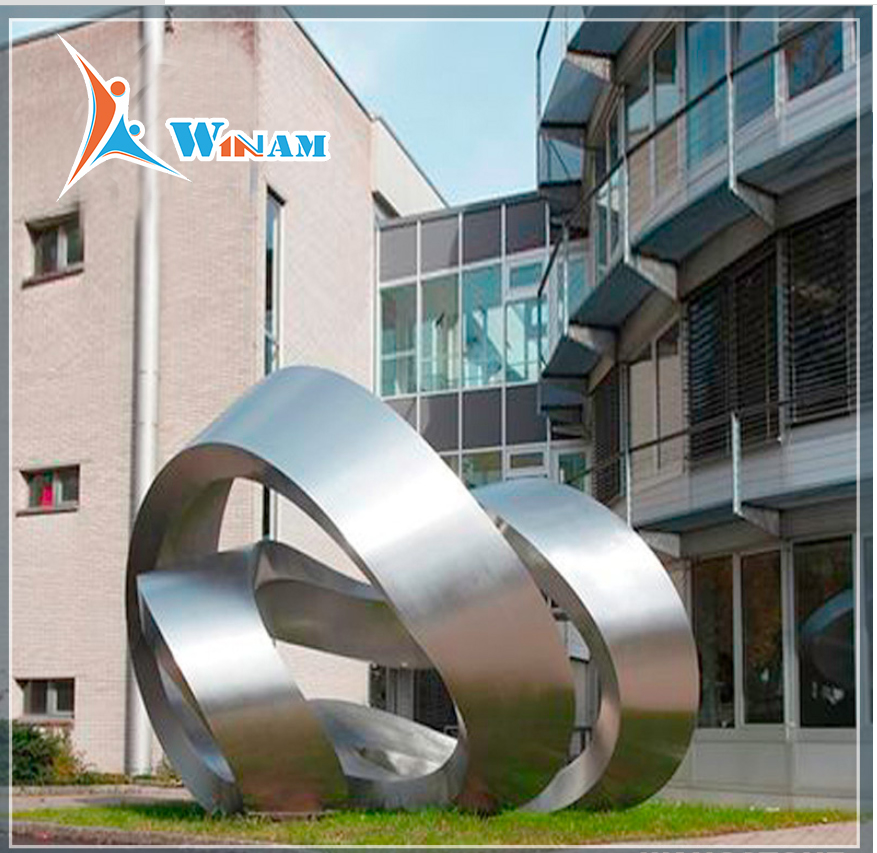 Large Stainless Steel Metal Urban Sculpture