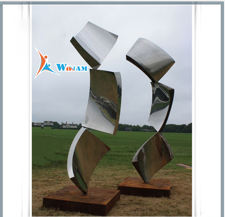 Abstract Outdoor Metal Art Ornamental Sculpture