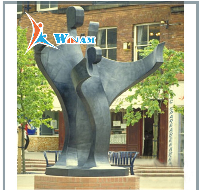 Abstract figure metal garden statues wholesale