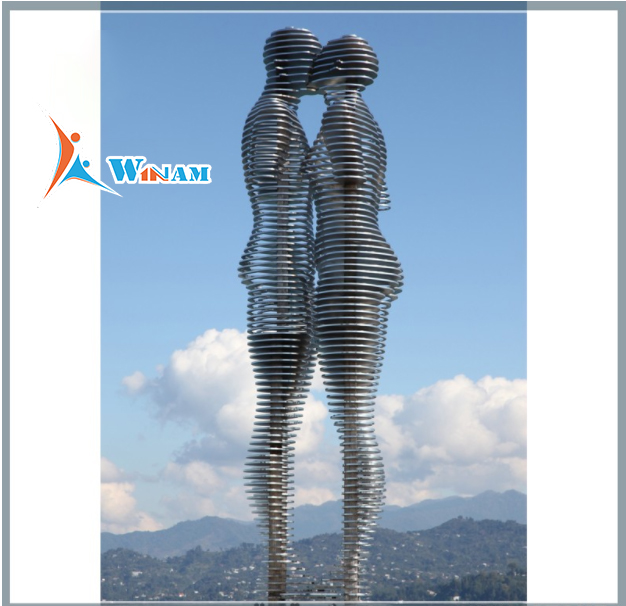 Abstract Human Art Modern Stainless Steel Sculpture