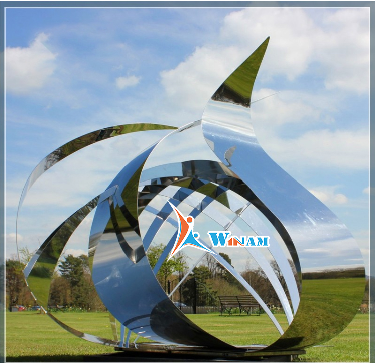 Garden large metal abstract sculpture for sale