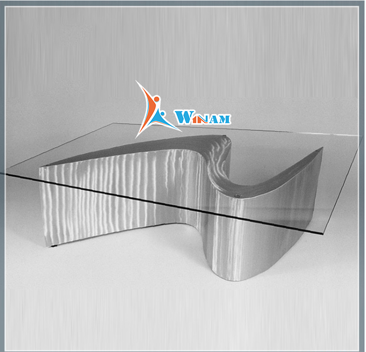 Stainless steel table sculpture