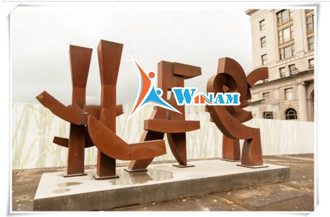 Modern garden art corten steel sculpture for decor