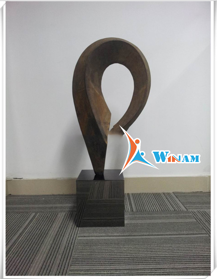 Corten steel Sculpture with Base