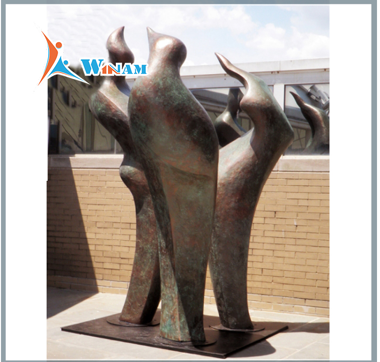 Large garden decoration bronze love couple statue