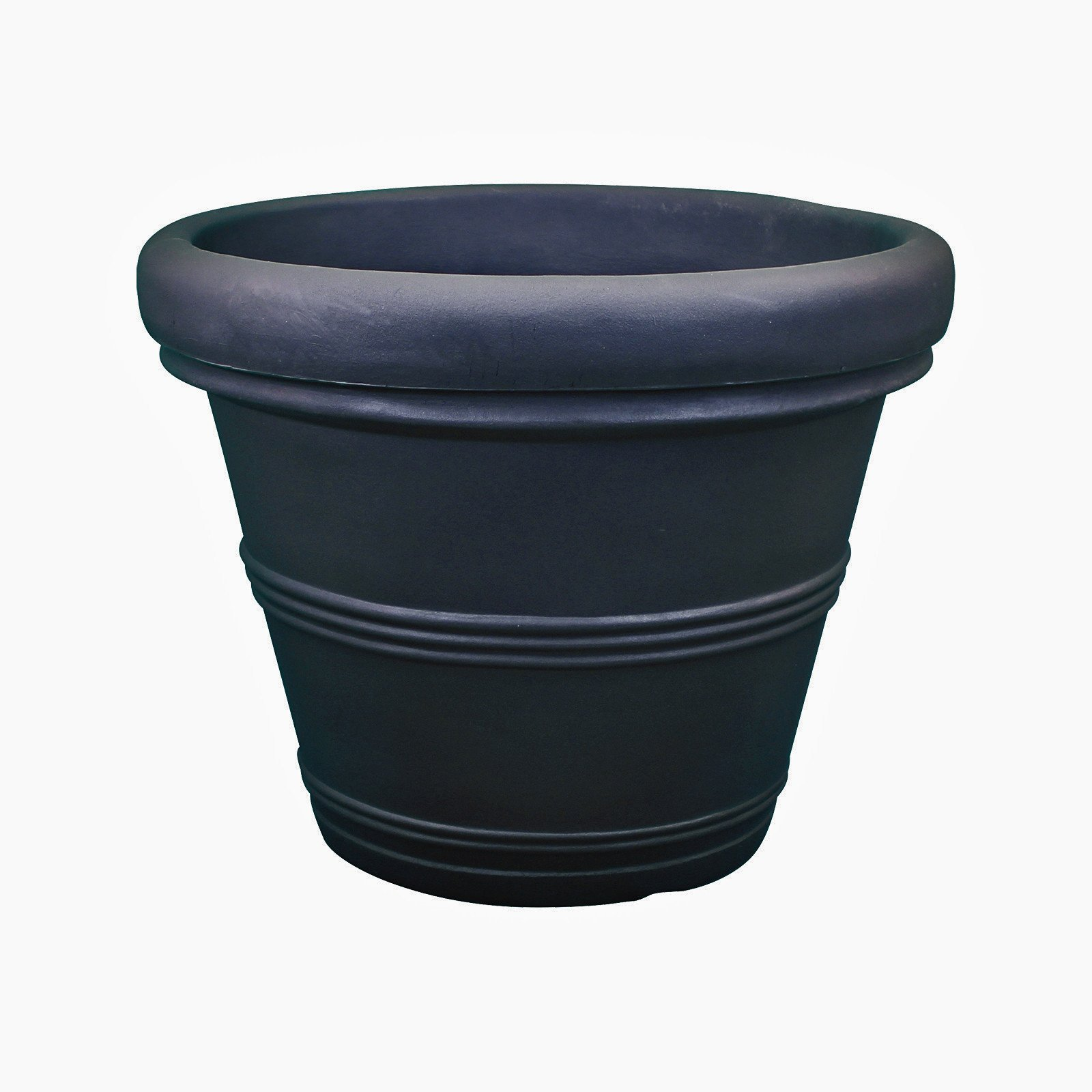 Rolled Rim Traditional Planter - Plastic - Brunello by Crescent Garden